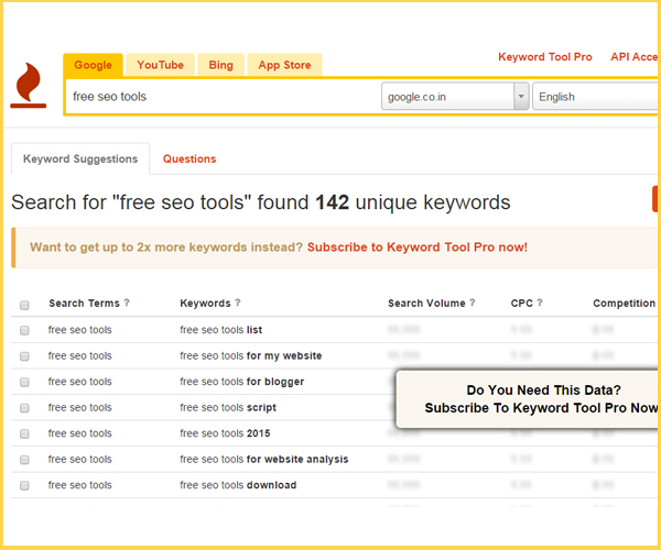 KeywordIo Keyword Research Tool